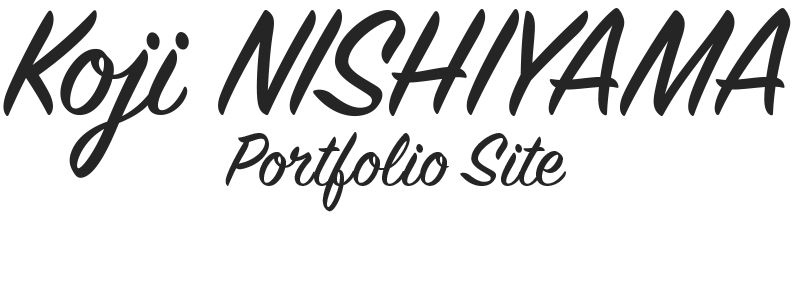 Koji NISHIYAMA Portfolio Site