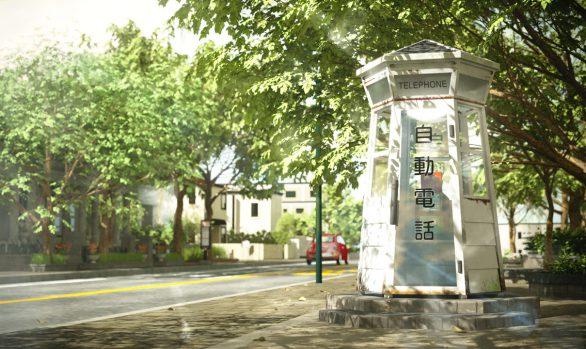 横浜市山手 電話ボックス